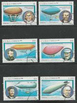 3487-3492 gestempelt  (CU-Zeppelin-Ballone)