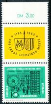 1013 postfrisch mit Zierfeld und Bogenrand oben (DDR)