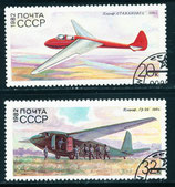 5205-5206 gestempelt (SU-Flugzeuge)