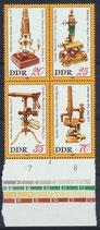 DDR 2534-2537 postfrisch Viererblock mit Bogenrand unten