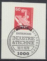 BERL 582  gestempelt mit Ersttagssonderstempel