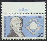 DDR 2215 postfrisch mit Bogenrand oben