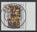 BRD 1099 gestempelt mit Bogenrand rechts