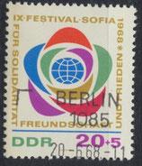 DDR 1377  philat. Stempel