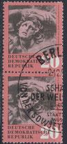 DDR 668  philat. Stempel senkrechtes Paar