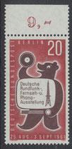 BERL 217 postfrisch mit Bogenrand oben
