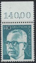 BERL 430  postfrisch mit Bogenrand oben