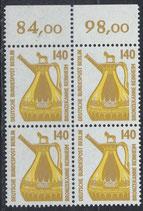 BERL 832 postfrisch Viererblock mit Bogenrand oben