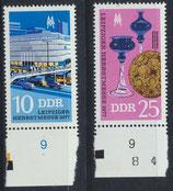DDR 2250-2251 postfrisch mit Bogenrand unten