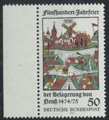 BRD 843 postfrisch mit Bogenrand links