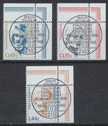 BRD 2295-2297 gestempelt mit Eckrand rechts oben