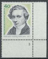 BERL 542 postfrisch Bogenrand rechts unten mit Formnummer 3