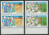 BRD 1127-1128 postfrisch senkrechte Paare mit Bogenrand unten
