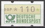 110 (Pf) Automatenmarke 1 postfrisch mit Zählnummer (BRD-ATM)