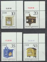2924-2927 postfrisch mit Eckrand rechts oben (DDR)