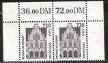 2197 postfrisch waagrechtes Paar mit Ober- und Seitenrand (BRD)
