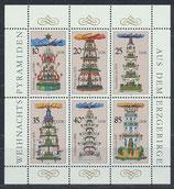 DDR 3134-3139 postfrisch Kleinbogen