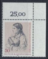 BERL 730 postfrisch mit Eckrand rechts oben