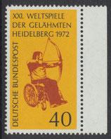 BRD 733 postfrisch mit Bogenrand rechts