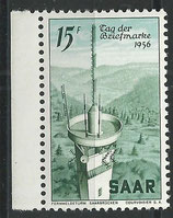 SAAR 369 postfrisch mit Bogenrand links
