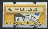 BRD-ATM 5 - 33 gestempelt