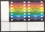 BERL   358 postfrisch waagrechtes Paar mit Eckrand links unten
