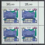 866 Viererblock mit Eckrand rechts oben (RWZ) (BRD)