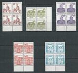 BERL 673-677 postfrisch Viererblöcke mit Bogenränder