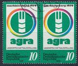 DDR 2428 gestempelt waagrechtes Paar
