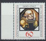 BRD 1036 postfrisch mit Bogenrand links