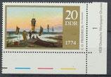 DDR 1959 postfrisch mit Eckrand rechts unten
