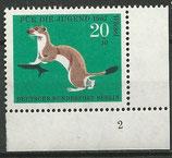 BERL  300  postfrisch  Eckrand rechts unten mit Formnummer 2