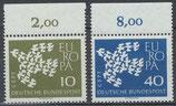 BRD 367-368 postfrisch Bogenrand oben