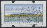 2.1 - 10 gestempelt (BRD-ATM)