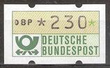 230 (Pf) Automatenmarke 1 postfrisch (BRD-ATM)