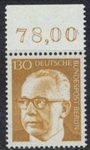 BERL 429  postfrisch mit Bogenrand oben