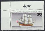 BRD 929 postfrisch mit Eckrand links oben