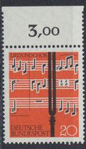 BRD 380 postfrisch mit Bogenrand oben