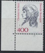 BRD 1582 postfrisch mit Eckrand links unten