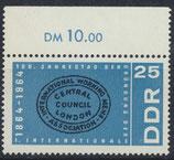 DDR 1055 postfrisch mit Bogenrand oben