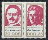 DDR 1650-1651 postfrisch Zusammendruck