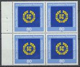 BRD 1209 postfrisch Viererblock mit Bogenrand links
