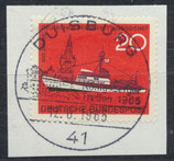 BRD 478 gestempelt auf Briefstück
