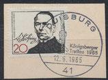 BRD 477 gestempelt auf Briefstück