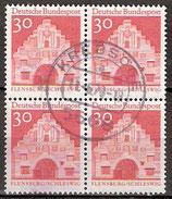 493 gestempelt Viererblock (BRD)
