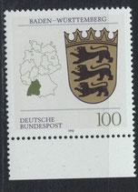 BRD 1586 postfrisch mit Bogenrand unten