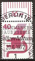 407 gestempelt Bogenrand oben (RWZ 16.-) (BERL)