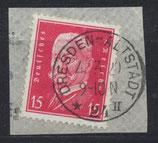 DR 414 gestempelt auf Briefstück (3)