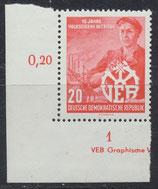 527 postfrisch mit Eckrand links unten (DDR)