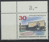 BERL  257 postfrisch Eckrand links oben (RWZ 3,00)